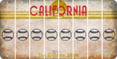 California BASEBALL / SOFTBALL Cut License Plate Strips (Set of 8) LPS-CA1-063