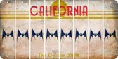 California BAT Cut License Plate Strips (Set of 8) LPS-CA1-074