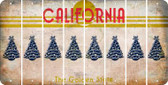 California CHRISTMAS TREE Cut License Plate Strips (Set of 8) LPS-CA1-077