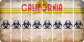 California BIO HAZARD Cut License Plate Strips (Set of 8) LPS-CA1-084