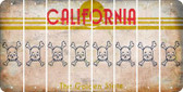 California SKULL Cut License Plate Strips (Set of 8) LPS-CA1-092