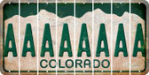 Colorado A Cut License Plate Strips (Set of 8) LPS-CO1-001