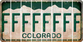 Colorado F Cut License Plate Strips (Set of 8) LPS-CO1-006