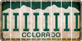 Colorado I Cut License Plate Strips (Set of 8) LPS-CO1-009
