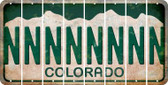 Colorado N Cut License Plate Strips (Set of 8) LPS-CO1-014