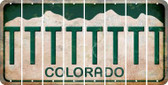 Colorado T Cut License Plate Strips (Set of 8) LPS-CO1-020