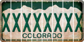 Colorado X Cut License Plate Strips (Set of 8) LPS-CO1-024