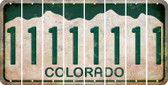 Colorado 1 Cut License Plate Strips (Set of 8) LPS-CO1-028