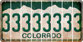 Colorado 3 Cut License Plate Strips (Set of 8) LPS-CO1-030