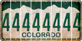 Colorado 4 Cut License Plate Strips (Set of 8) LPS-CO1-031