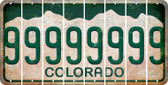 Colorado 9 Cut License Plate Strips (Set of 8) LPS-CO1-036