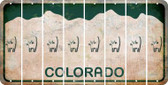 Colorado CAT Cut License Plate Strips (Set of 8) LPS-CO1-072