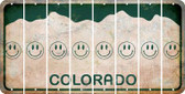 Colorado SMILEY FACE Cut License Plate Strips (Set of 8) LPS-CO1-089
