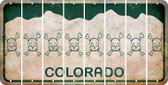 Colorado SKULL Cut License Plate Strips (Set of 8) LPS-CO1-092