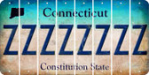 Connecticut Z Cut License Plate Strips (Set of 8) LPS-CT1-026