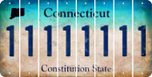 Connecticut 1 Cut License Plate Strips (Set of 8) LPS-CT1-028