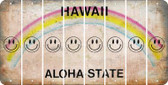 Hawaii SMILEY FACE Cut License Plate Strips (Set of 8) LPS-HI1-089
