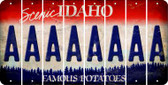 Idaho A Cut License Plate Strips (Set of 8) LPS-ID1-001