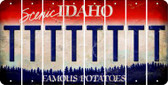 Idaho T Cut License Plate Strips (Set of 8) LPS-ID1-020
