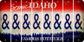 Idaho AMPERSAND Cut License Plate Strips (Set of 8) LPS-ID1-049