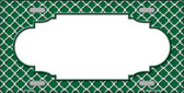 Green White Quatrefoil Center Scallop Wholesale Metal Novelty License Plate LP-4298