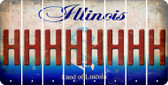 Illinois H Cut License Plate Strips (Set of 8) LPS-IL1-008