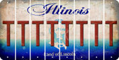 Illinois T Cut License Plate Strips (Set of 8) LPS-IL1-020