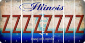 Illinois Z Cut License Plate Strips (Set of 8) LPS-IL1-026