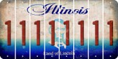 Illinois 1 Cut License Plate Strips (Set of 8) LPS-IL1-028