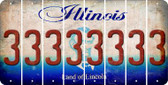 Illinois 3 Cut License Plate Strips (Set of 8) LPS-IL1-030