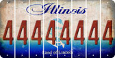 Illinois 4 Cut License Plate Strips (Set of 8) LPS-IL1-031
