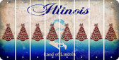 Illinois CHRISTMAS TREE Cut License Plate Strips (Set of 8) LPS-IL1-077