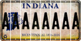 Indiana A Cut License Plate Strips (Set of 8) LPS-IN1-001