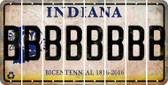 Indiana B Cut License Plate Strips (Set of 8) LPS-IN1-002