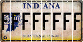 Indiana F Cut License Plate Strips (Set of 8) LPS-IN1-006