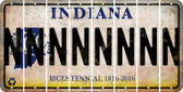 Indiana N Cut License Plate Strips (Set of 8) LPS-IN1-014