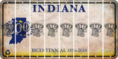 Indiana BASKETBALL HOOP Cut License Plate Strips (Set of 8) LPS-IN1-058
