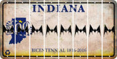 Indiana BAT Cut License Plate Strips (Set of 8) LPS-IN1-074