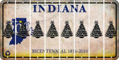 Indiana CHRISTMAS TREE Cut License Plate Strips (Set of 8) LPS-IN1-077