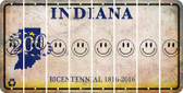 Indiana SMILEY FACE Cut License Plate Strips (Set of 8) LPS-IN1-089