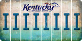 Kentucky I Cut License Plate Strips (Set of 8) LPS-KY1-009