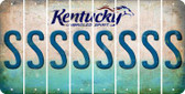 Kentucky S Cut License Plate Strips (Set of 8) LPS-KY1-019
