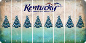Kentucky CHRISTMAS TREE Cut License Plate Strips (Set of 8) LPS-KY1-077