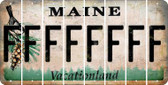 Maine F Cut License Plate Strips (Set of 8) LPS-ME1-006