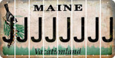 Maine J Cut License Plate Strips (Set of 8) LPS-ME1-010
