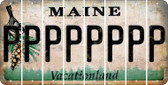 Maine P Cut License Plate Strips (Set of 8) LPS-ME1-016