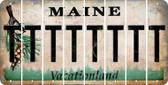 Maine T Cut License Plate Strips (Set of 8) LPS-ME1-020