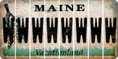 Maine W Cut License Plate Strips (Set of 8) LPS-ME1-023