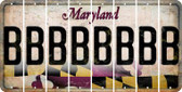 Maryland B Cut License Plate Strips (Set of 8) LPS-MD1-002