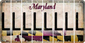 Maryland L Cut License Plate Strips (Set of 8) LPS-MD1-012